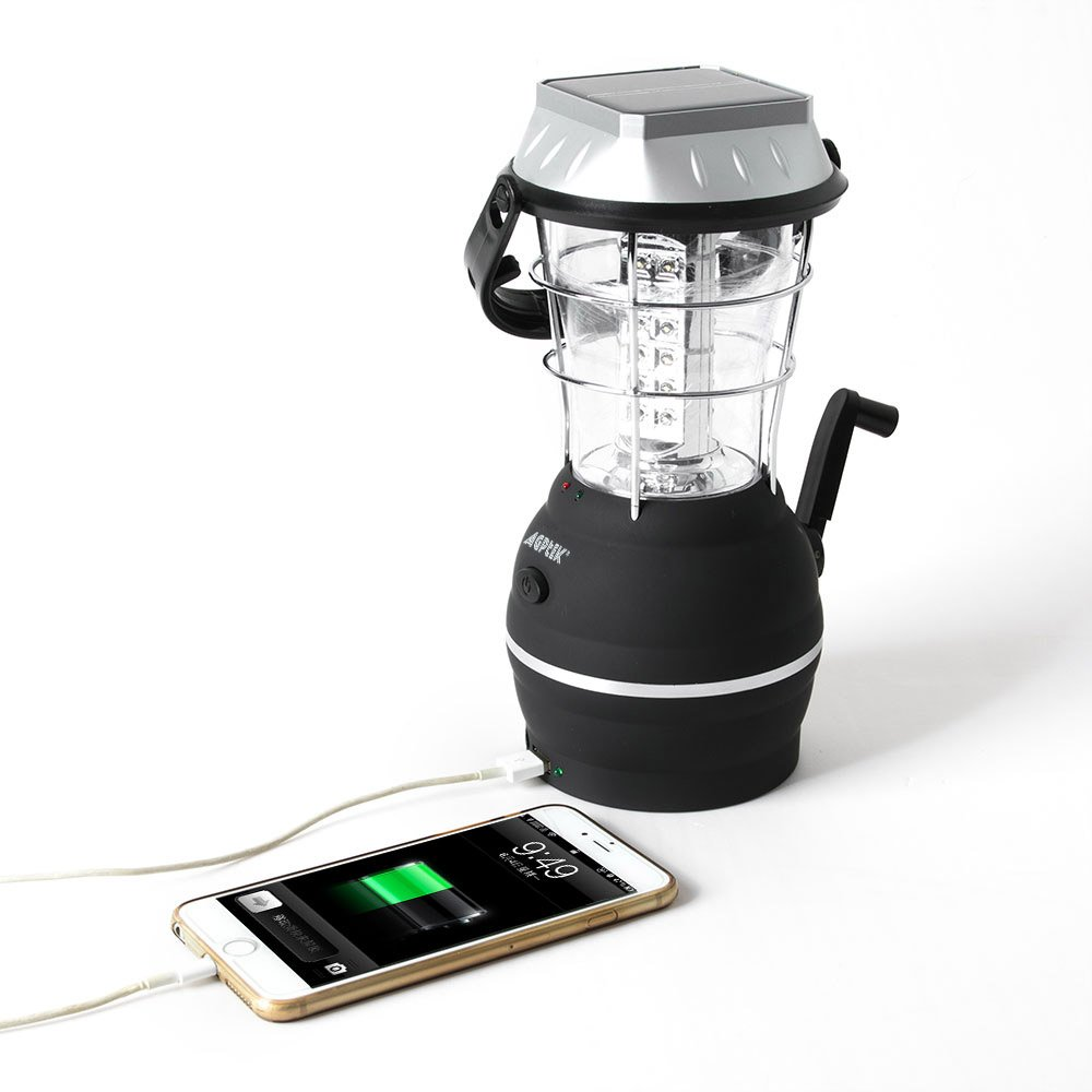 Lanterne solaire AGPtek 36 LEDs Lampe rechargeable 5 Modes de