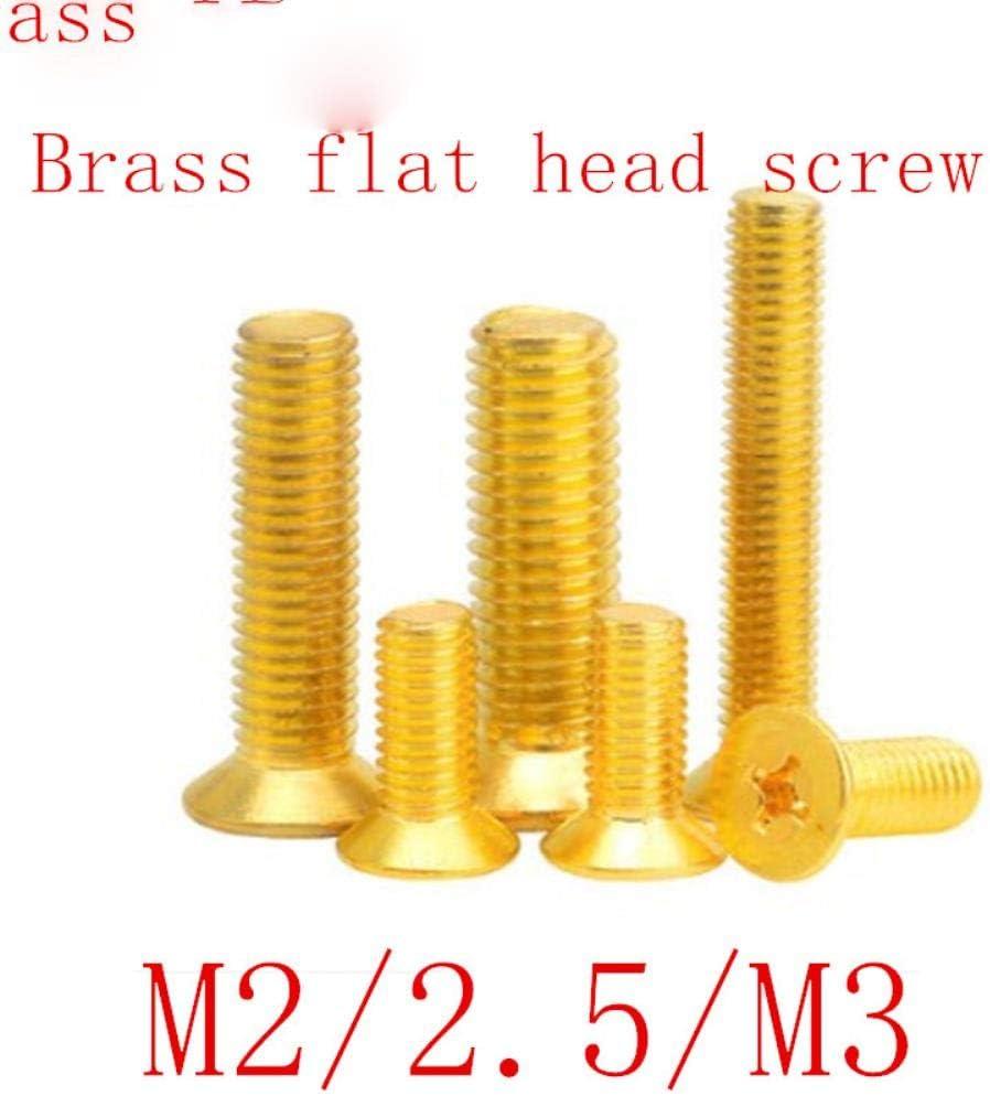 Lot de 50 vis /à t/ête frais/ée en laiton M2 M2.5 M3 DIN965