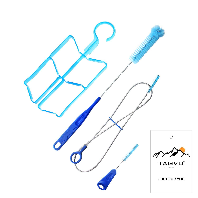 Tagvo Kit de limpieza de la vejiga de hidrataci/ón para el dep/ósito de agua universal juego de limpieza 4 en 1