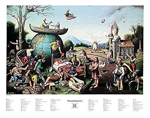 Laminated Proverbidioms II by T. E. Breitenbach Fantasy Weird Odd Strange Urban Poster 28×22 inches