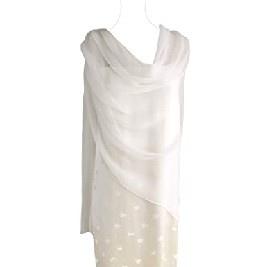 49eb8059c5f Pure Silk Chiffon Shawl/scarf, Oblong Size 72