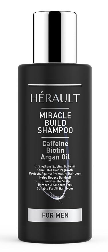 Miracle Build Champú con cafeína – Protege la caída del cabello, mejora la pelo folículo