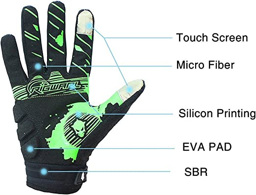 Motorcycles Riding Road Bike Skeleton Bones Gloves Bike Gloves Touchscreen MTB Easetech Cycling Gloves for Men Women