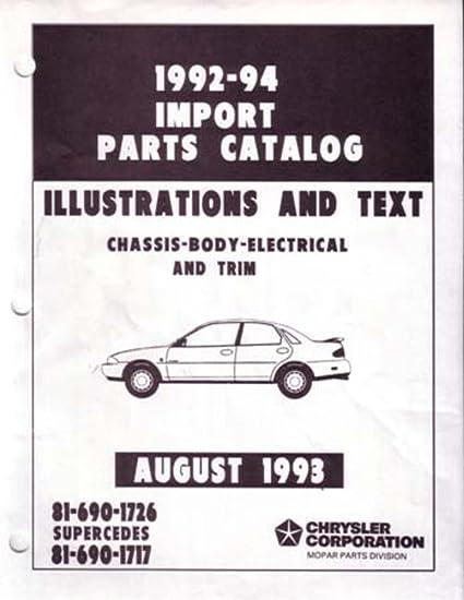Amazon Com Bishko Automotive Literature 1992 1993 1994 Stealth Colt