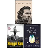 Greenlights, Shuggie Bain and The Midnight Library 3 Books Collection Set