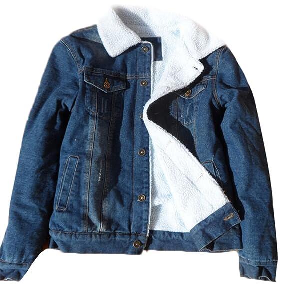 En Épaisse Manteaux Revers Jeans Warm Veste Denim Homme Brinny Hiver 5qPxUwYWBB