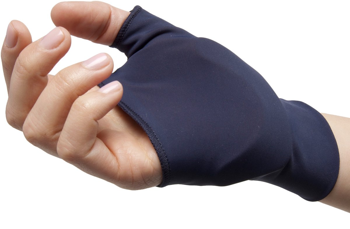 NatraCure Computer Gloves (Carpal Tunnel Relief) Reversible - Size: Medium/Large - One Pair (Reversible) - (for Wrist and Hand Pain Relief from Typing and Other Repetitive Movements)
