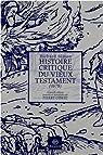 Histoire critique du Vieux Testament : Suivi de Lettre sur l'inspiration par Simon