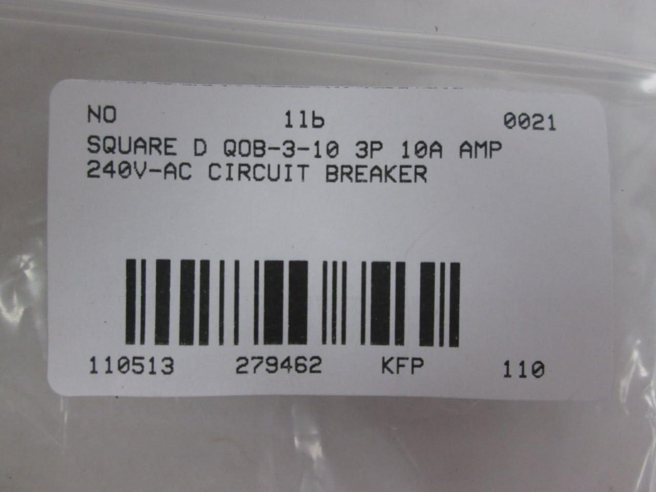 SCHNEIDER ELECTRIC Miniature 240-Volt 10-Amp QOB310 Molded Case Circuit Breaker 600V 90A
