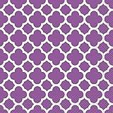 Unique 38762 Quatrefoil Paper Napkins, 16 Count, Purple
