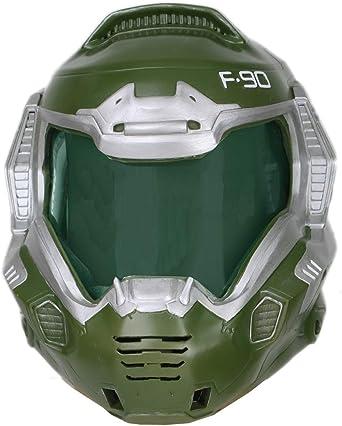 Amazon Com Xcoser Doomguy Helmet Deluxe Green Mask Visor
