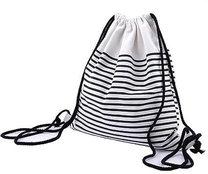 Abaría - Mochila Tela con Cuerdas Bolsas Infantil Mujer niña ...