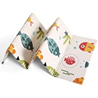 BloodyRippa Foldable & Reversible Play Mat, Extra Large Foam Crawling Playmat Including Travel Case with Carry Strap…