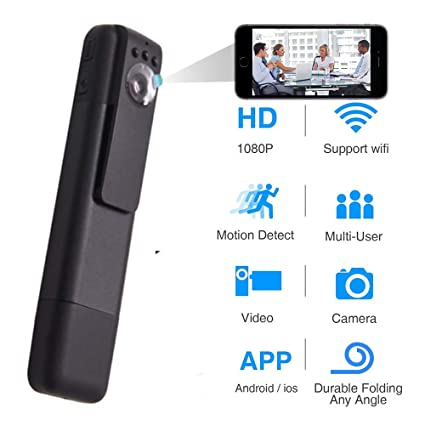 Amazon com: Hidden Camera, Wireless Wi-Fi Mini Camera 1080P APP