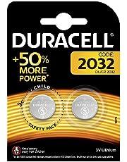 Pila especiales Duracell de botón de litio 2032 de 3 V, paquete de 2 unidades