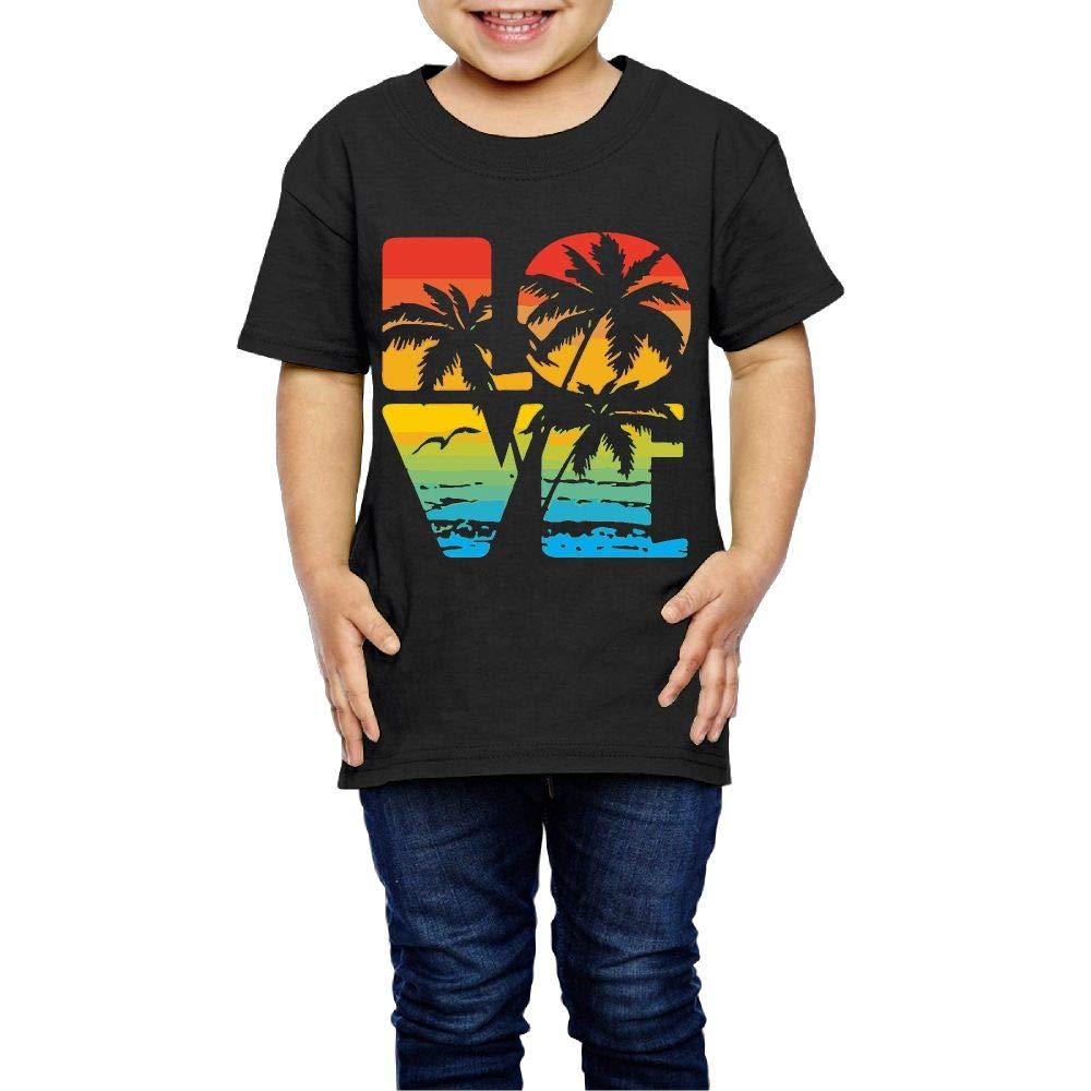 Love Hawaii Beach 2-6 Years Old Kids Short Sleeve Tee Shirt