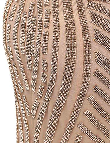 Sirena Collo Lx116 Della Spettacolo Abito rosa Di Casa Belle Donne A Da Di Sera Perline Vestito Picco Hlx029 YH1qvc