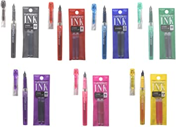 2 Yellow Ink Refills for Platinum Preppy Fountain Pens Fountain Pen Ink Refill Cartridges