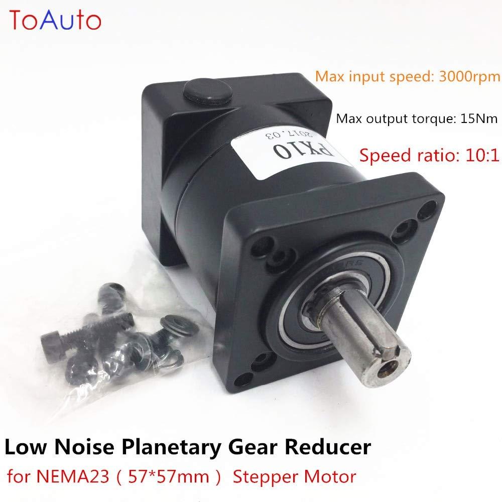 Ochoos Longevity Low Noise Ratio 10:1 Planetary Gear Reducer for NEMA23 Stepper Motor Gearbox Reducer High Precision Planetary Reducer