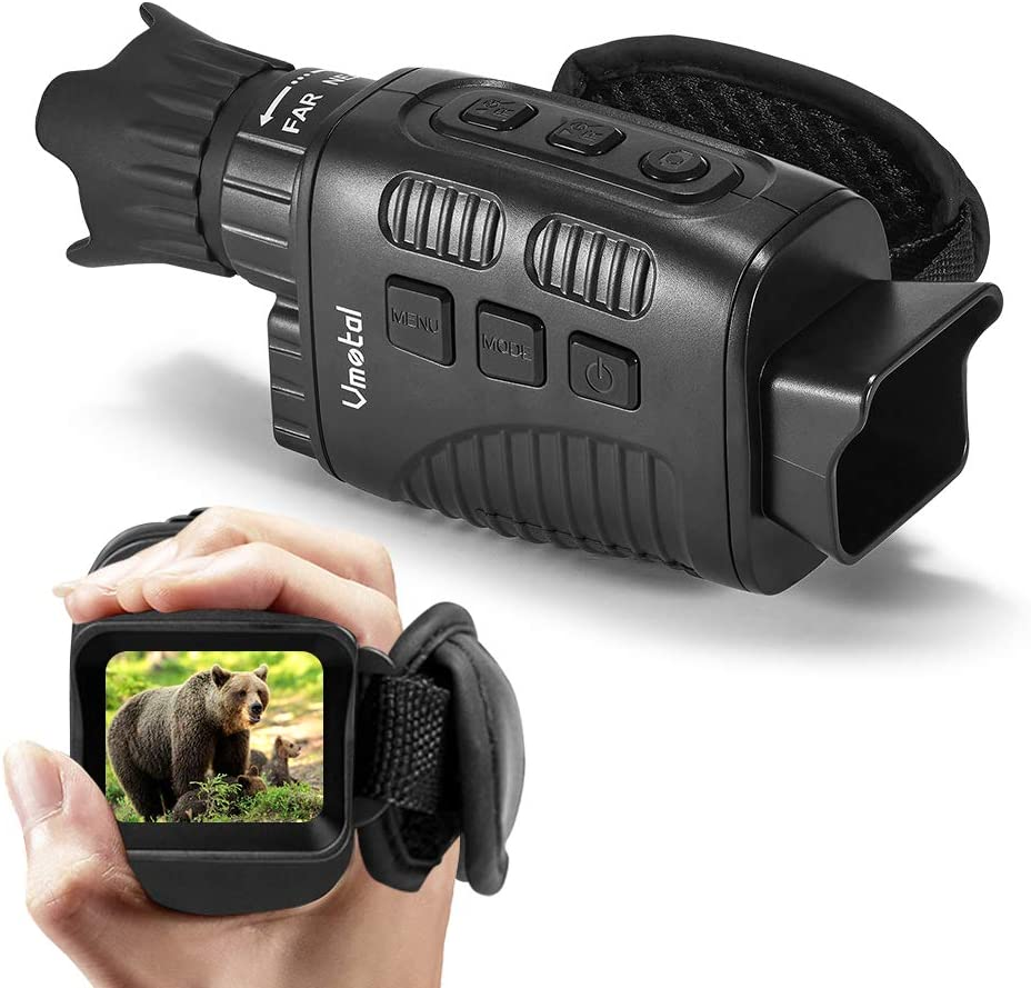 """Vmotal Digital Night Vision Monocular Infrared for 100% Darkness with 1.5"""" TFT Inner Screen IR Camera 960P HD Super Light Weight Video Recording Photo Taking for Outdoor Surveillance Camping Hiking"""