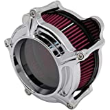 Harley Air Cleaner Chrome See Through Intake Filter Kit Cnc Cut for Motorcycle Dyna 2000 - 2017 Softail 2000 - 2015 Touring 2