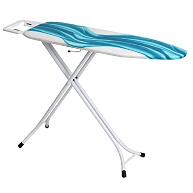 Mabel Home Adjustable Height, Deluxe, 4-Leg, Ironing Board, Extra Cover