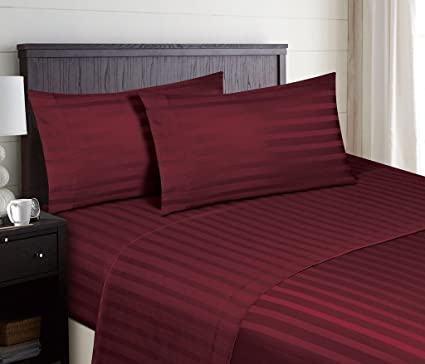 Superb Hotel Luxury STRIPED Bed Sheets Set SALE TODAY ONLY! On Amazon Top Quality