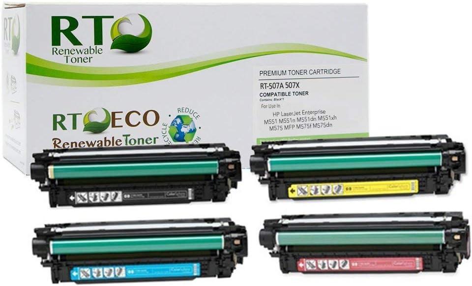 Renewable Toner Compatible Toner Cartridge Replacement for HP 507A 507X CE400X CE401A CE402A CE403A (Cyan, Magenta, Yellow, Black, 4-Pack)