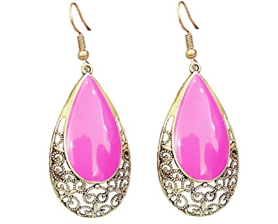 da015cb8661 Buy A2 Fashion Stores Stylish Drangler Earrings For Girls And Women - Pink  Online at Low Prices in India