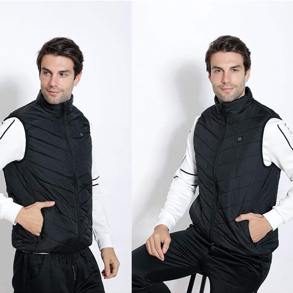 Electric Heated Vest for Men Women Washable Back /& Neck Area Heating Vest Lightweight Warm Vest for Winter Activities 3-Speed Temperature Adjustment Womdee USB Charging Heated Warm Vest