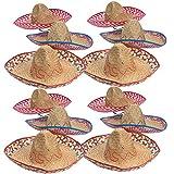Sombrero Party Hats– Mexican Party Supplies - 12 Extra Large Sombrero Hats, Fiesta Party Supplies by Tigerdoe