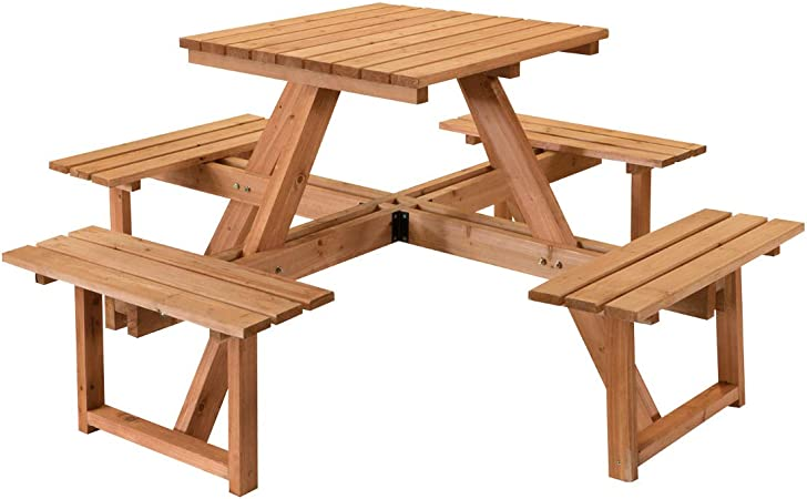 STI - Juego de mesa de picnic con bancos de madera impregnada ...