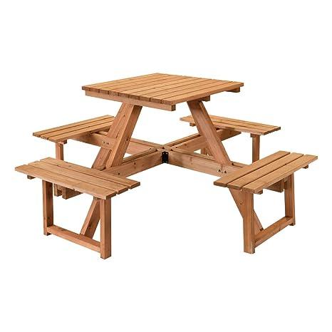 STI Set de Pique-Nique Table avec bancs Bois imprégné 170 x ...