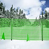 Cheap V Protek Safety Fence for Flower Plants Support,Snow Fencing,Deer Netting,39″ 50′,Above Ground,Mesh,Temporary,Plastic Barrier,for Kids,Swimming Pool,Silt,Garden,Lawn, Rabbits,Poultry,Dogs,Green Color