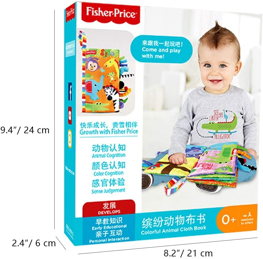 BEUHOME Baby Books Animal Tails Libro de Tela Baby Toy Libros de Desarrollo de Tela Libros de Aprendizaje y educaci/ón temprana Soft Activity Book
