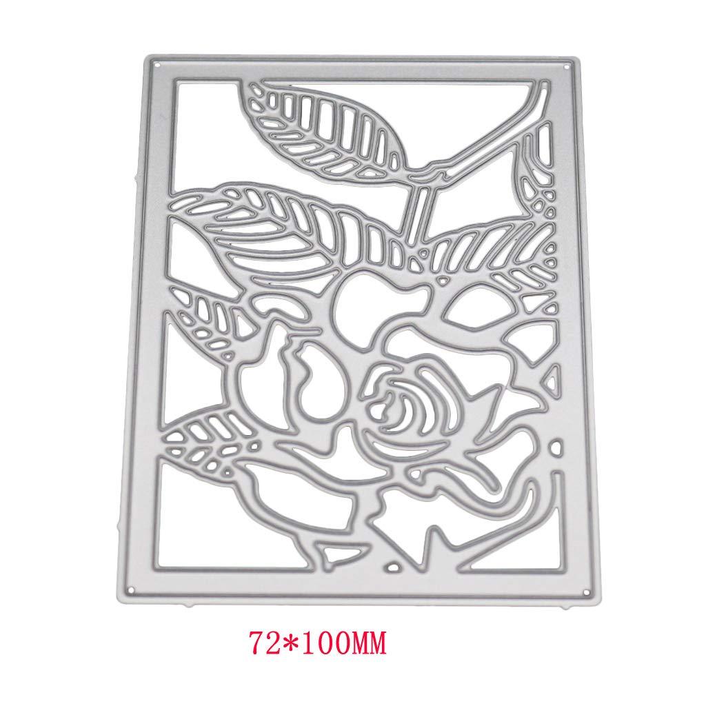 Ranuw Matrices De D/écoupe,Fleur Fond De Coupe En M/étal Matrices Stencil DIY Scrapbooking Album Carte De Papier Gaufrage