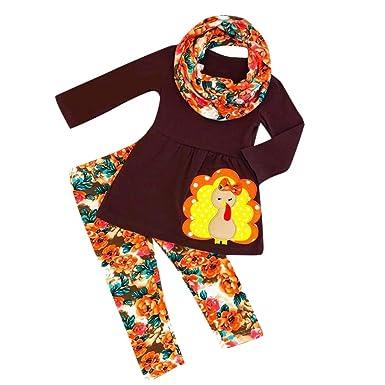 Candyly - Conjunto de Camisetas y Pantalones de Pavo para niñas y ...