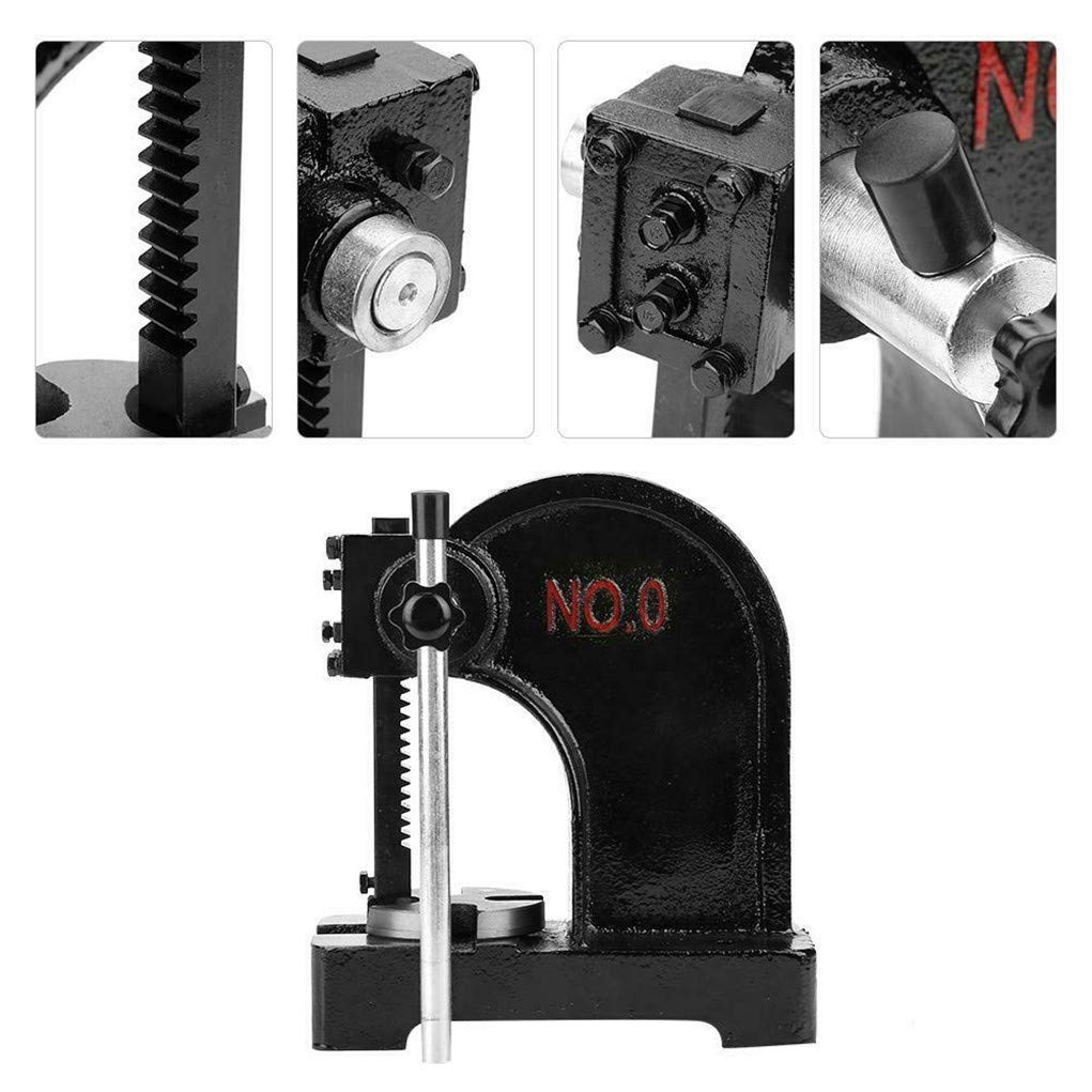 BRD 1/2T Metal Arbor Press Tool Manual Desktop Hand Punch Press Machine by BRD