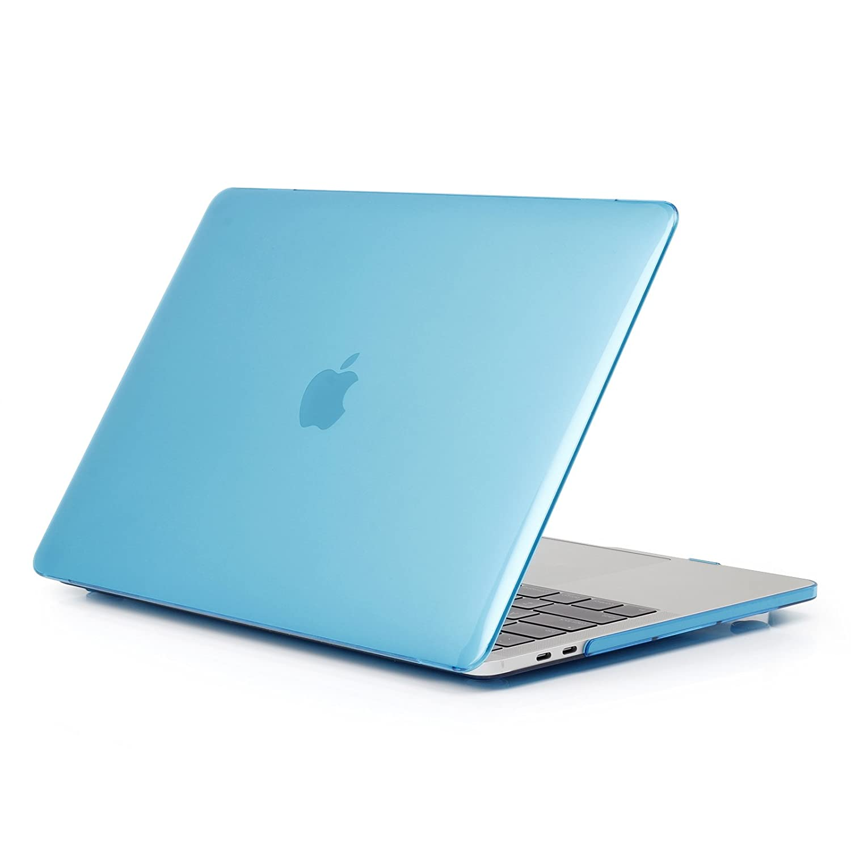 MacBook Pro 13 ケース 2018 2017 2016年発売 A1989/A1706/A1708 プラスチック ハードシェルカバー スクリーンプロテクター付き 対応機種 MacBook Pro 13インチ タッチバークリスタル付き/なし (ブルー)   B07HR33FSG