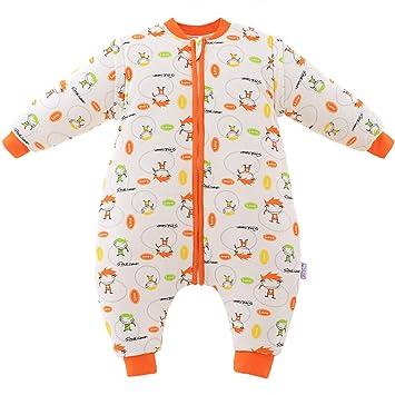 HAIMING-sleeping bag Mono De Bebe Saco De Dormir De La Pierna del Bebé Pijamas De Bebe-Saco De Dormir con Patas De Bebé para Niños, Antipatadas, ...