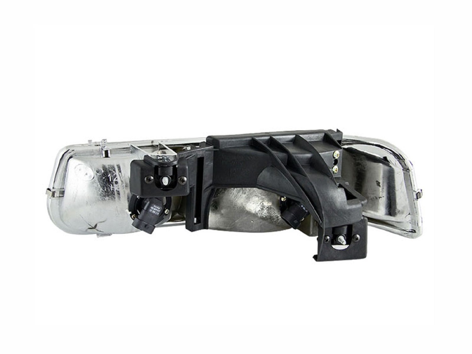Anzo USA 111155 Chevrolet Silverado Black Clear Headlight Assembly Sold in Pairs