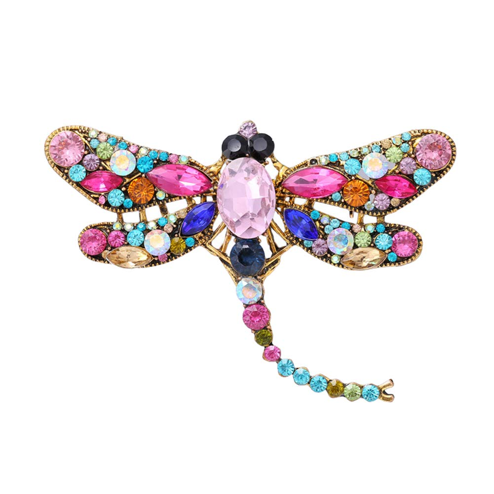 6CM Nikgic Multicolor Vintage Fashion Set With Zircon Brooch Elegant Pin Decoration 9.3
