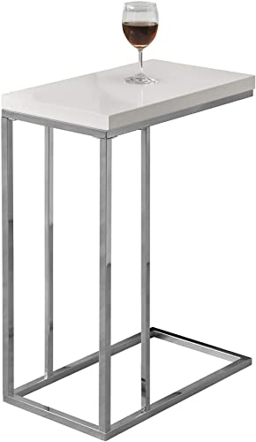 Monarch Specialties Contemporary Accent Rectangular Side Table - the best living room table for the money