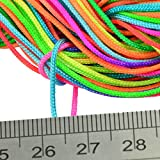 MonkeyJack 30 Meters 1mm Kumihimo Gold Metalic Nylon Braided Cord Thread String Rainbow - Multicolor