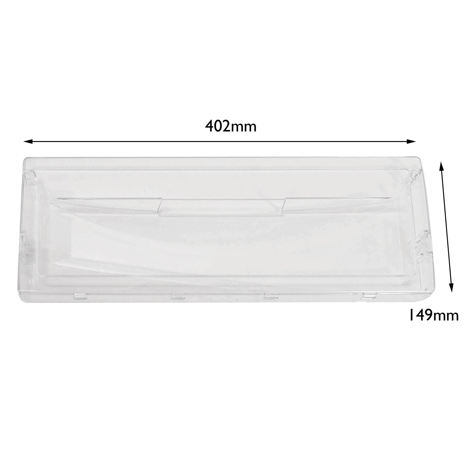 SPARES2GO Transparent Basket Drawer Front Flap for Scholtes Fridge Freezer