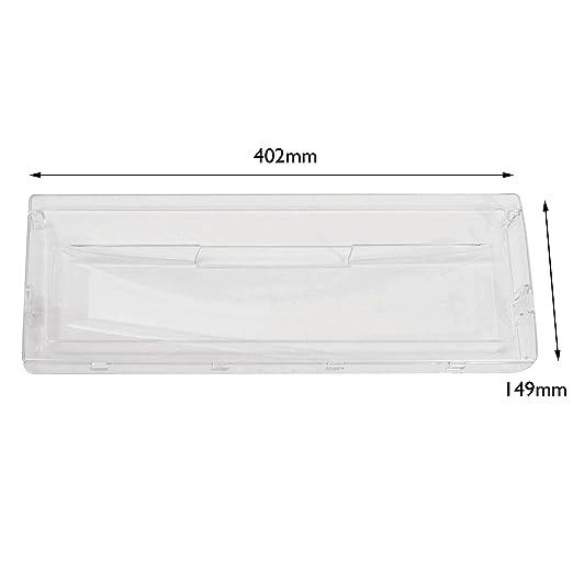 Spares2go transparente cajón cesta solapa delantera para Hotpoint ...
