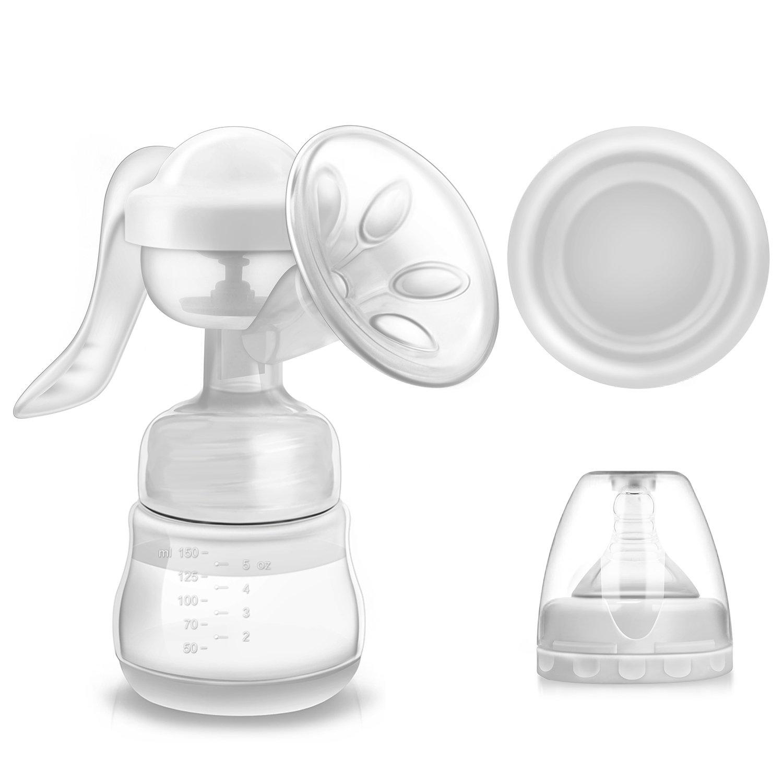 Bomba de lactancia manual, bomba de lactancia manual de silicona Miuphro con bomba de potencia de alta potencia como la vida, sin BPA