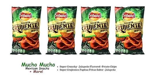 Amazon Com Sabritas Mexican Chips 4 Pack Fritos Chorizo Chipotle
