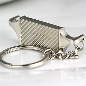 muchkey® Creative pulido plata motor pistón Llavero Clave ...