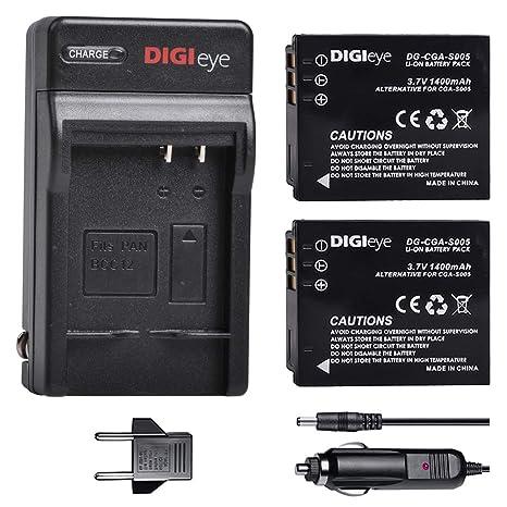 Amazon.com: DIGIeye CGA-S005 S005E - Batería y cargador de ...